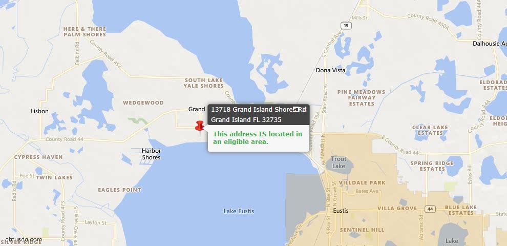 USDA Loan Eligiblity Maps From - Grand Island, FL