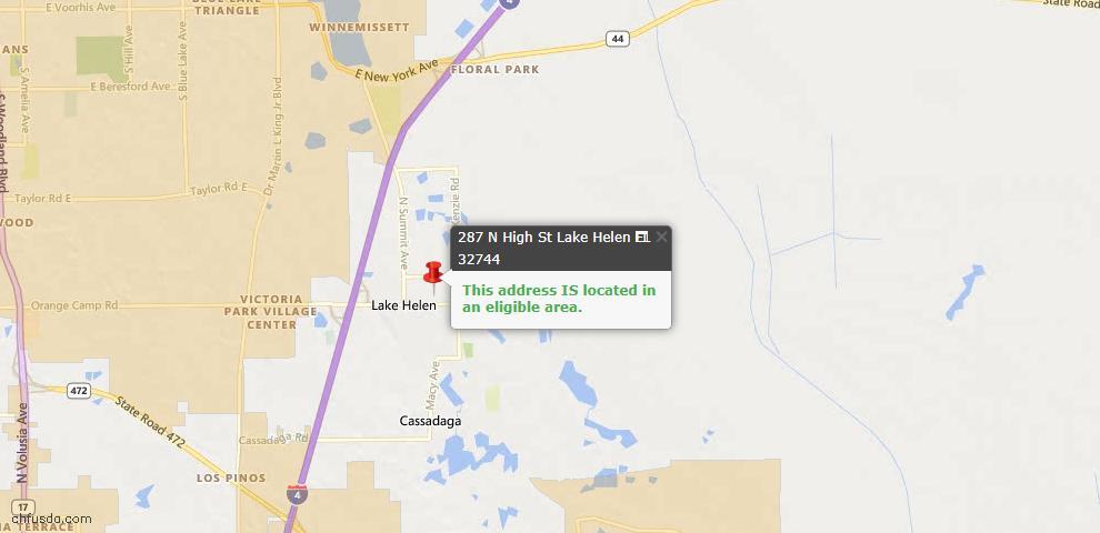 USDA Loan Eligiblity Maps From - Lake Helen, FL