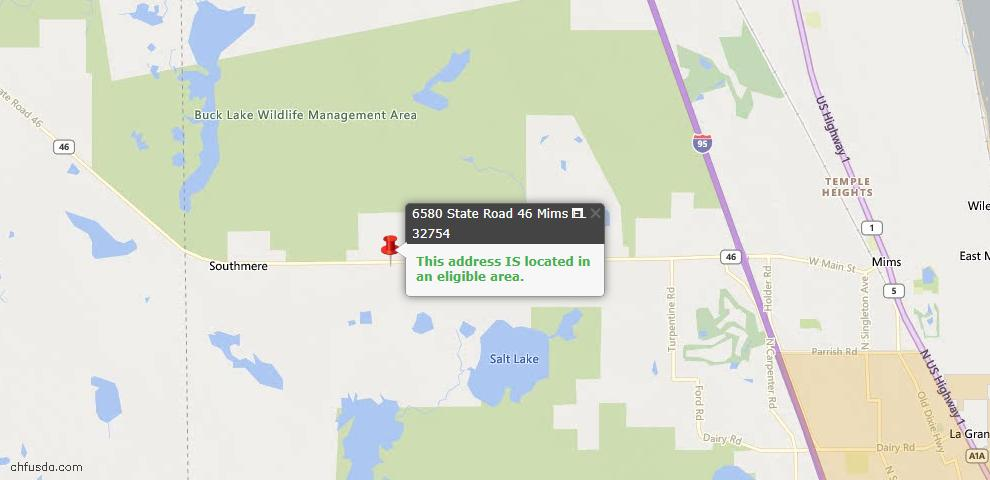 USDA Loan Eligiblity Maps From - Mims, FL
