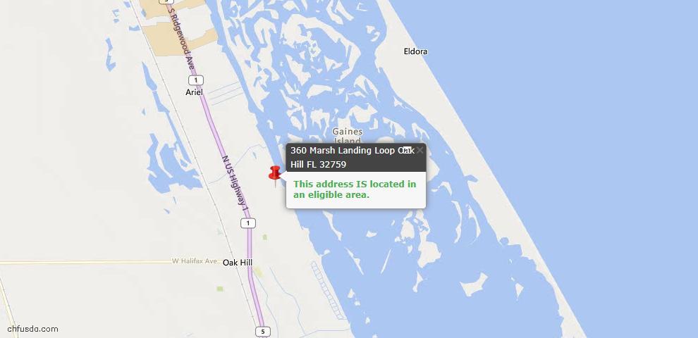 USDA Loan Eligiblity Maps From - Oak Hill, FL