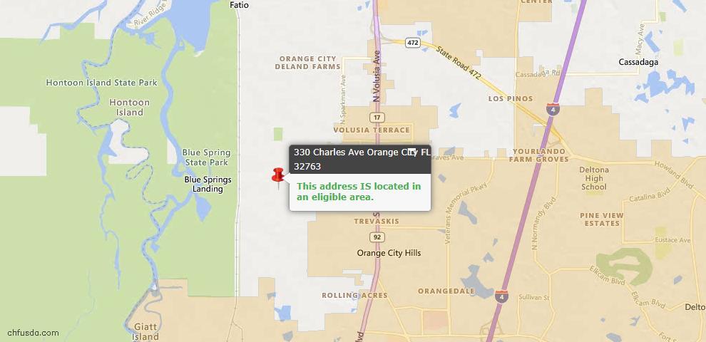 USDA Loan Eligiblity Maps From - Orange City, FL