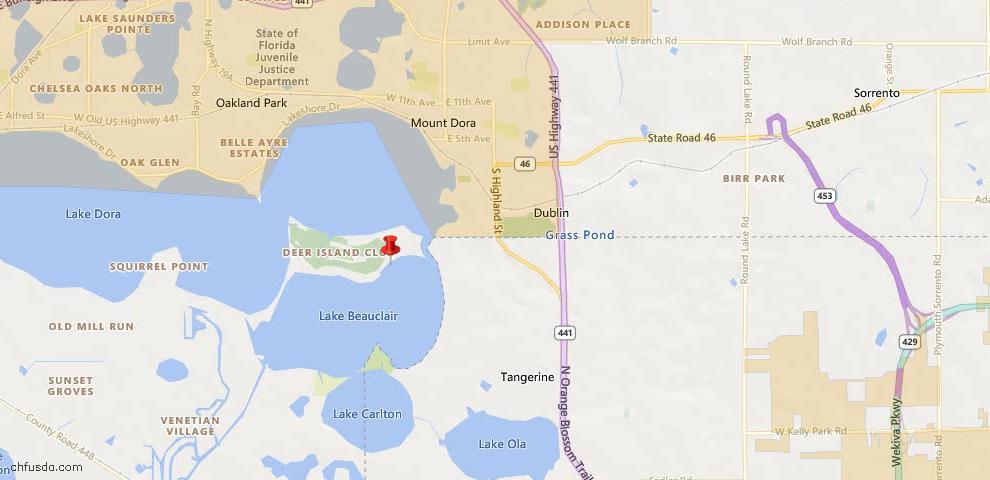 USDA Loan Eligiblity Maps From - Deer Island, FL