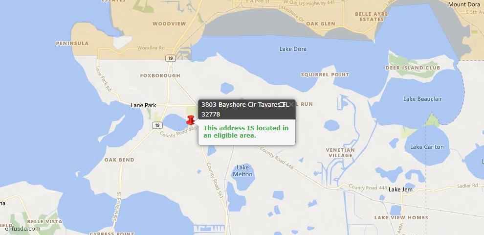 USDA Loan Eligiblity Maps From - Tavares, FL