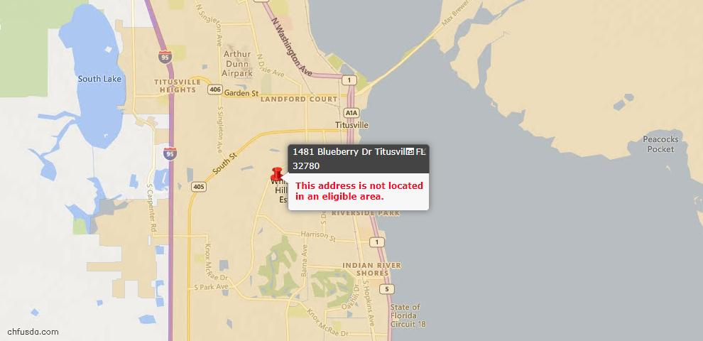 USDA Loan Eligiblity Maps From - Titusville, FL