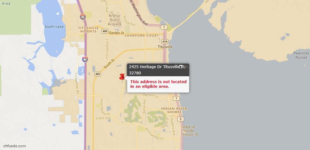 USDA Loan Eligiblity Maps From - Brevard County, FL