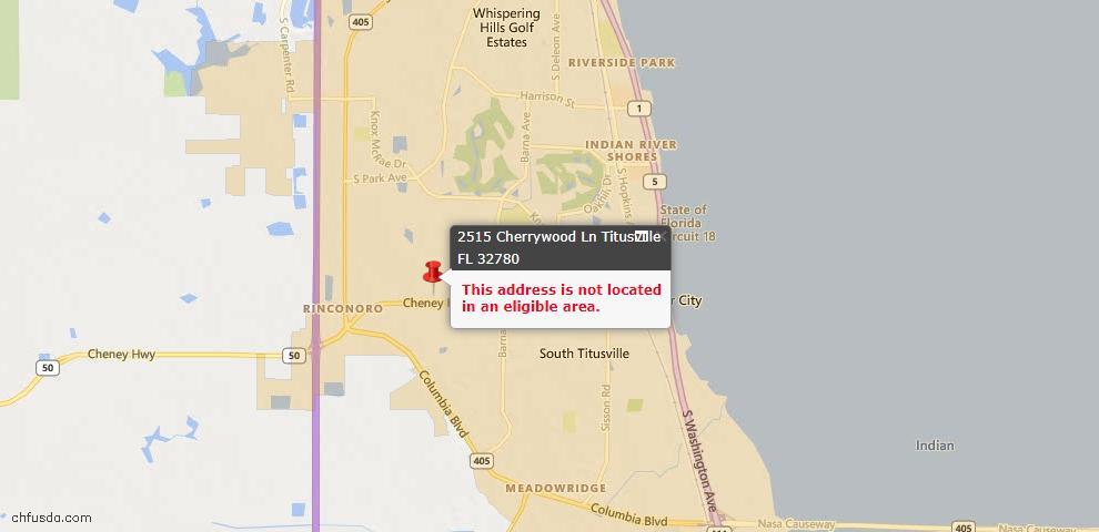 USDA Loan Eligiblity Maps From - 32780, FL