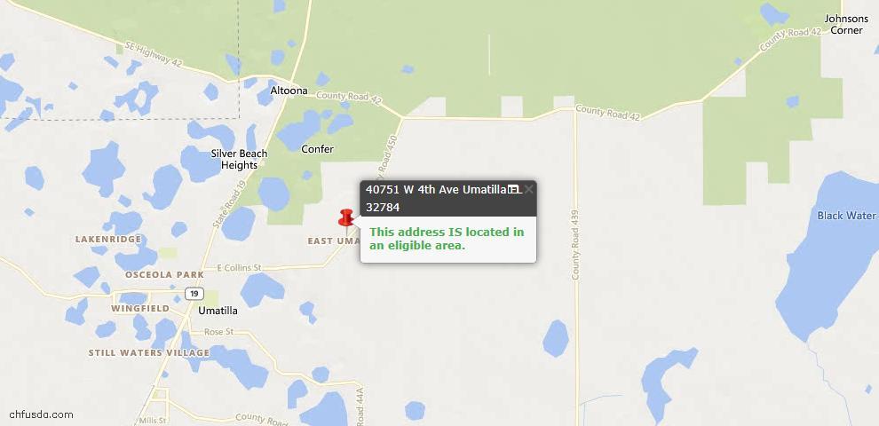 USDA Loan Eligiblity Maps From - Umatilla, FL