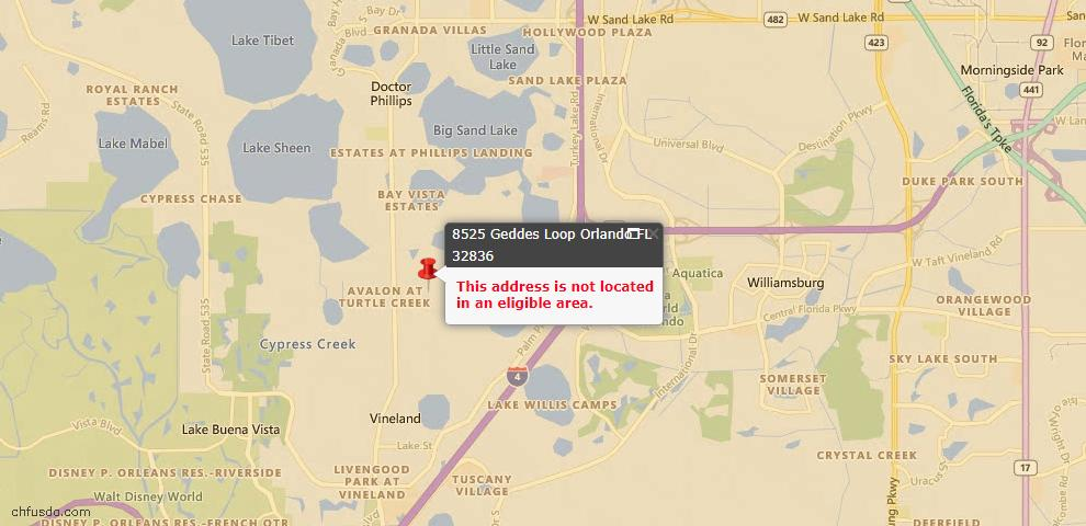 USDA Loan Eligiblity Maps From - Orlando, FL