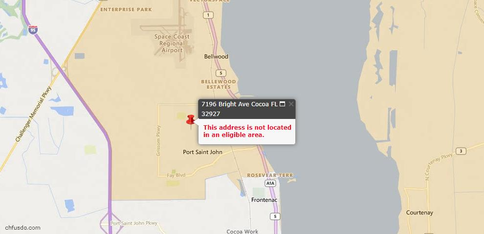 USDA Loan Eligiblity Maps From - Cocoa, FL