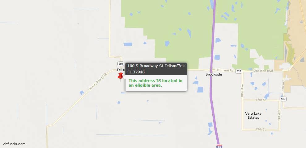 USDA Loan Eligiblity Maps From - Fellsmere, FL