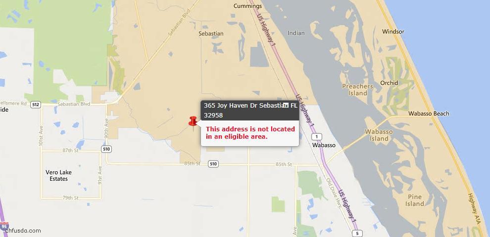 USDA Loan Eligiblity Maps From - Sebastian, FL