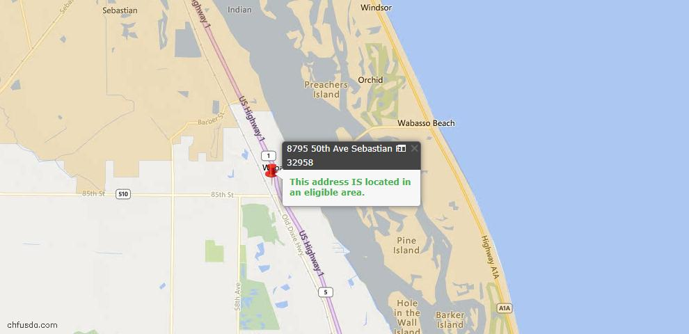 USDA Loan Eligiblity Maps From - Indian River County, FL