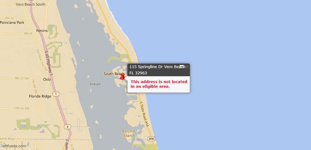 USDA Loan Eligiblity Maps From - Vero Beach, FL