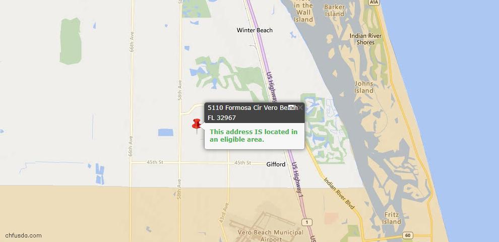 USDA Loan Eligiblity Maps From - 32967, FL