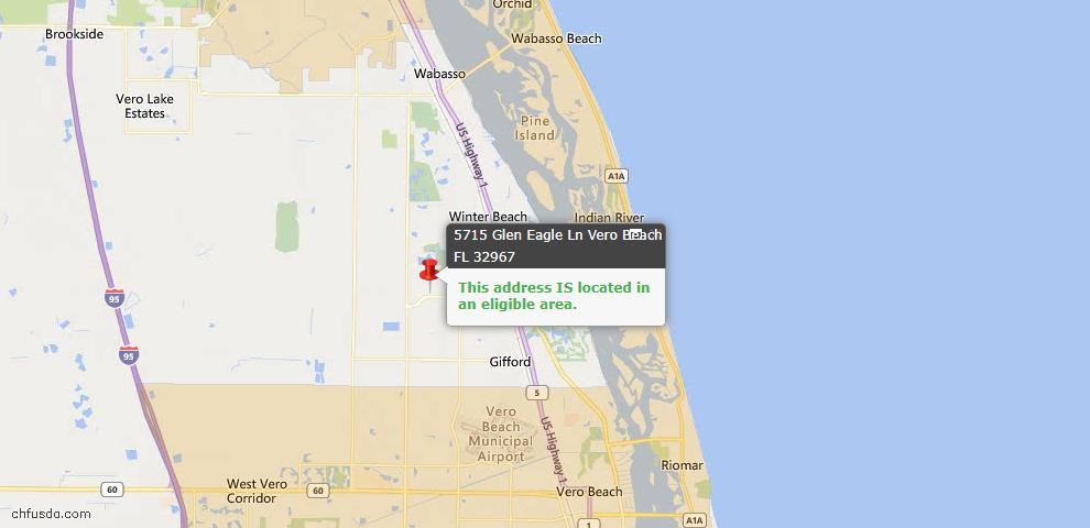 USDA Loan Eligiblity Map - 5715 Glen Eagle Ln, Vero Beach, FL 32967