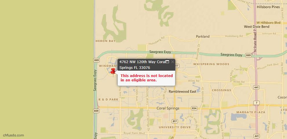 USDA Loan Eligiblity Maps From - Coral Springs, FL