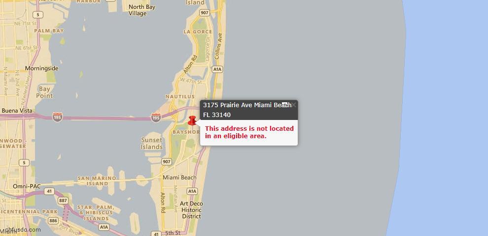 USDA Loan Eligiblity Maps From - Miami Beach, FL