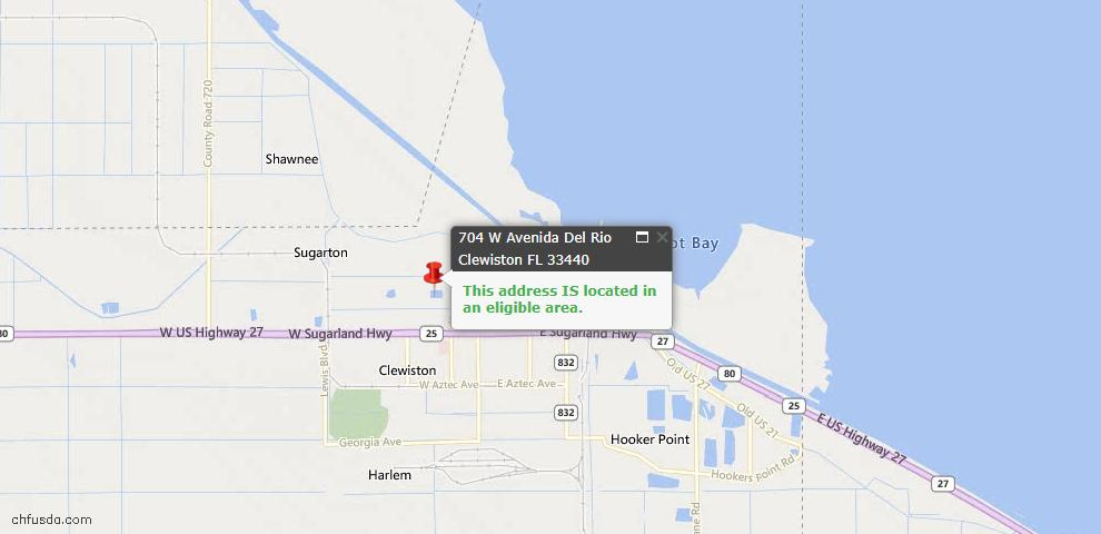 USDA Loan Eligiblity Maps From - Clewiston, FL