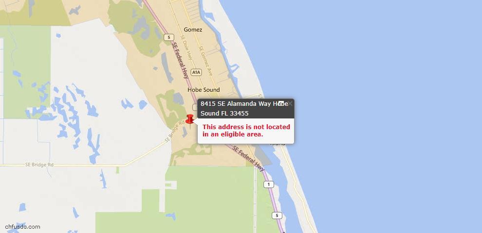 USDA Loan Eligiblity Maps From - Hobe Sound, FL