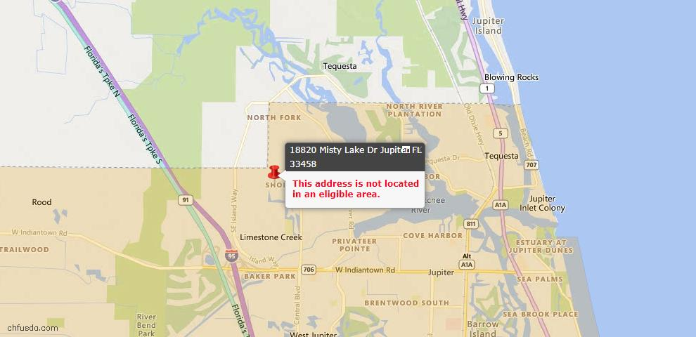 USDA Loan Eligiblity Maps From - Jupiter, FL