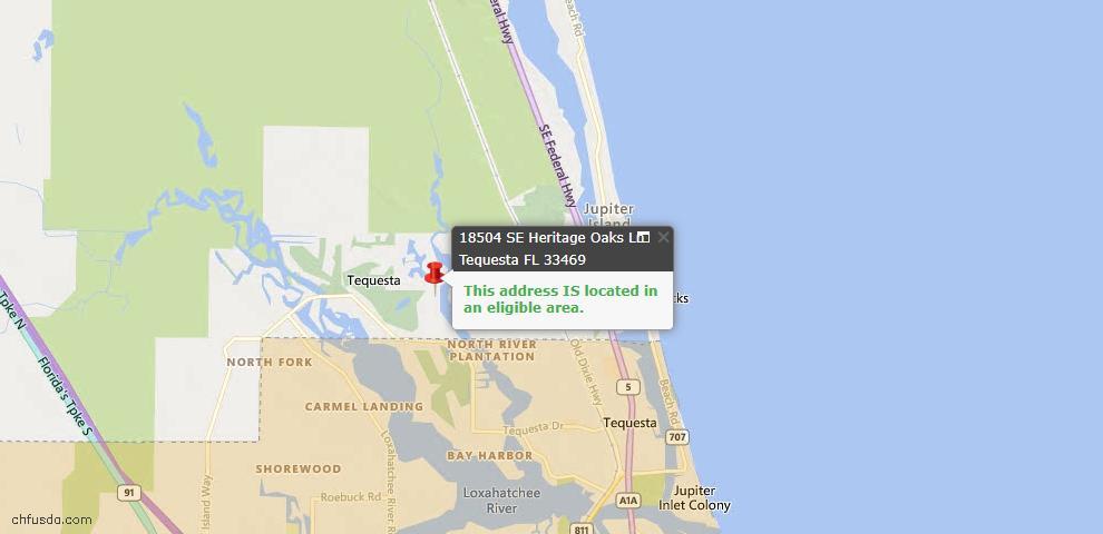USDA Loan Eligiblity Maps From - Tequesta, FL