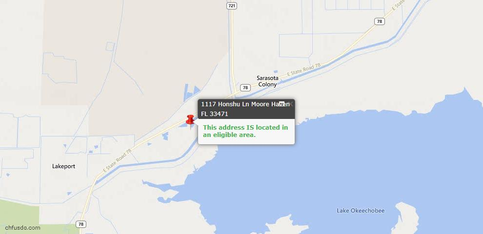 USDA Loan Eligiblity Maps From - Moore Haven, FL
