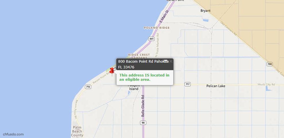USDA Loan Eligiblity Maps From - Pahokee, FL