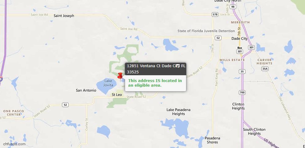 USDA Loan Eligiblity Maps From - Dade City, FL