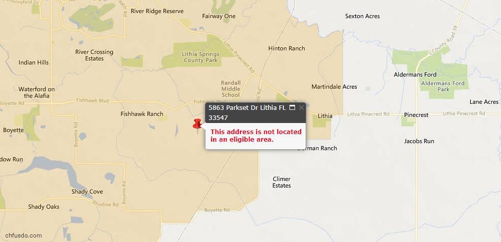 USDA Loan Eligiblity Maps From - Lithia, FL