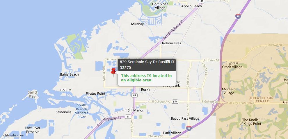 USDA Loan Eligiblity Maps From - 33570, FL