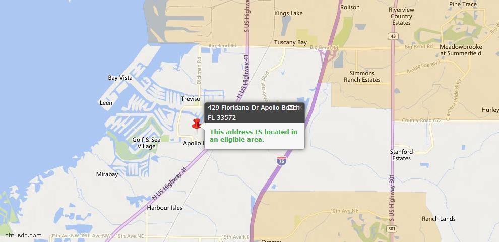 USDA Loan Eligiblity Maps From - Apollo Beach, FL