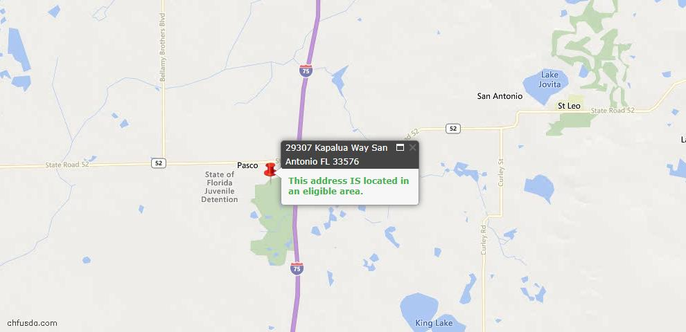 USDA Loan Eligiblity Maps From - San Antonio, FL