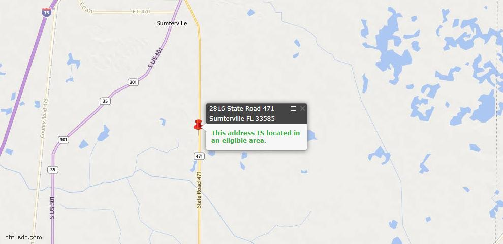 USDA Loan Eligiblity Maps From - Sumterville, FL
