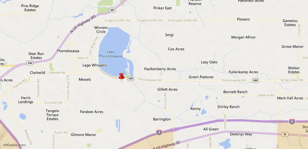 USDA Loan Eligiblity Maps From - 33592, FL