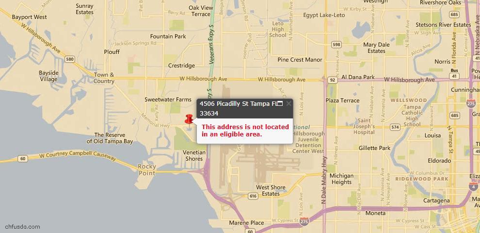 USDA Loan Eligiblity Maps From - Tampa, FL