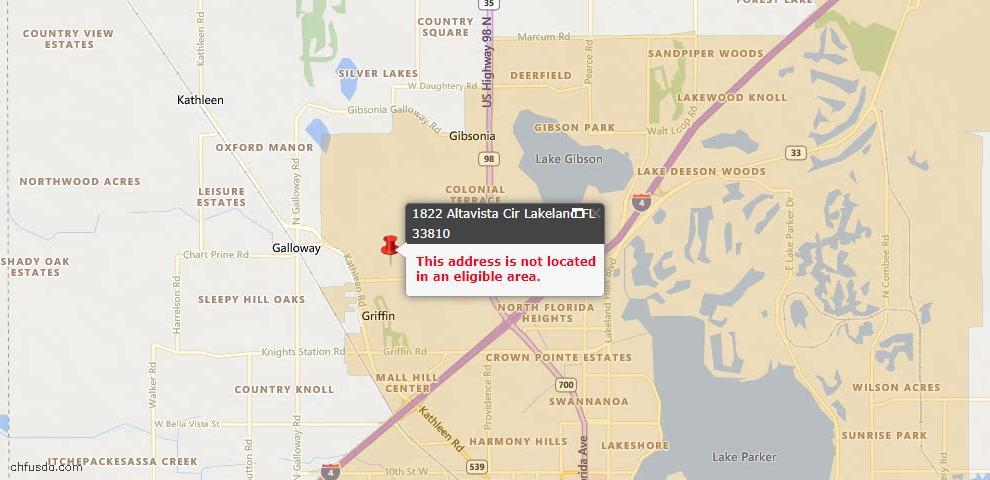 USDA Loan Eligiblity Maps From - 33810, FL