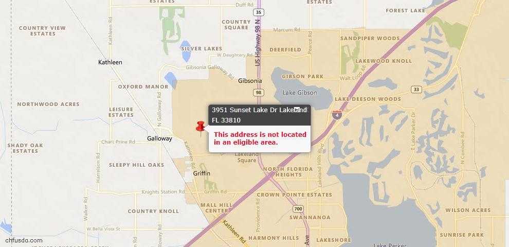 USDA Loan Eligiblity Maps From - Lakeland, FL