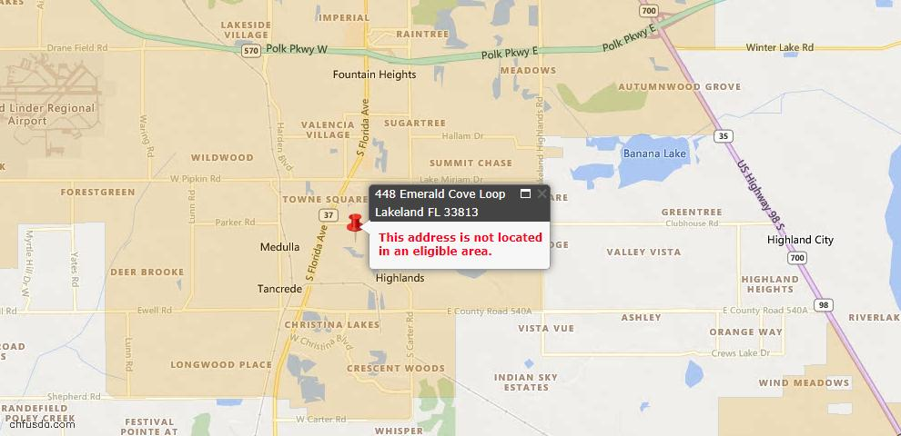 USDA Loan Eligiblity Maps From - 33813, FL