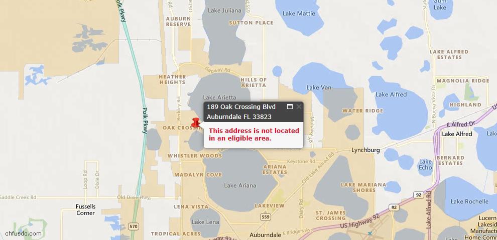 USDA Loan Eligiblity Maps From - Auburndale, FL