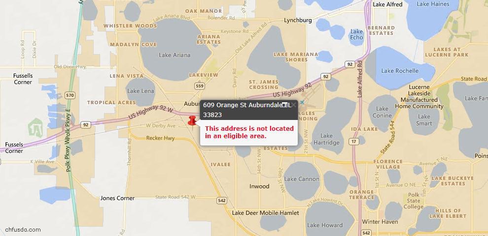 USDA Loan Eligiblity Maps From - 33823, FL