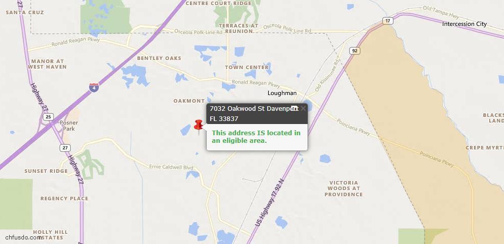 USDA Loan Eligiblity Maps From - 33837, FL