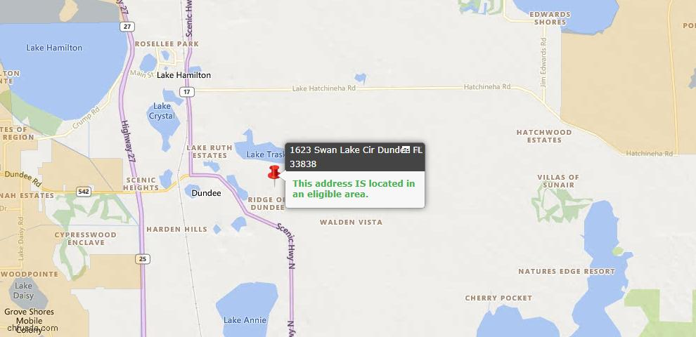 USDA Loan Eligiblity Maps From - Dundee, FL