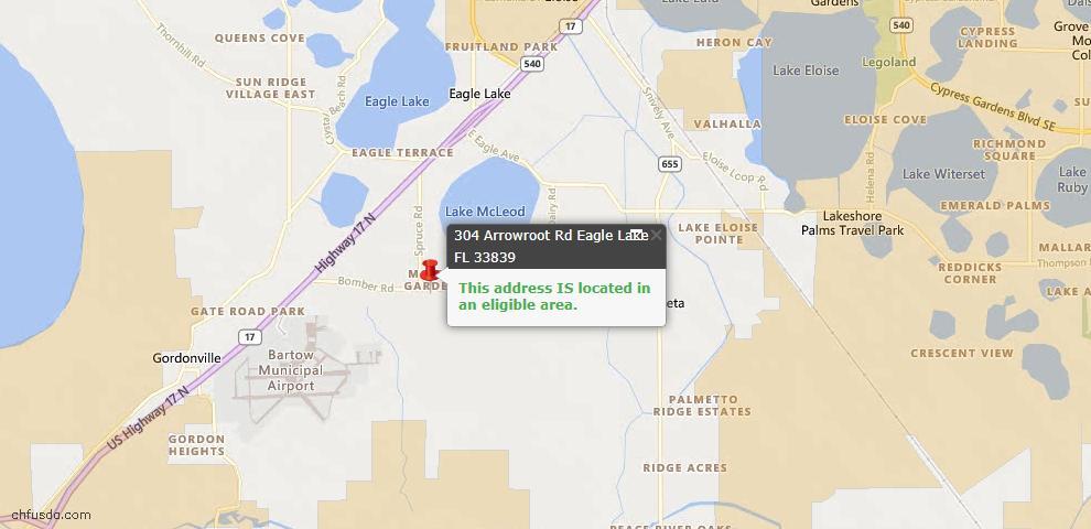 USDA Loan Eligiblity Maps From - Eagle Lake, FL