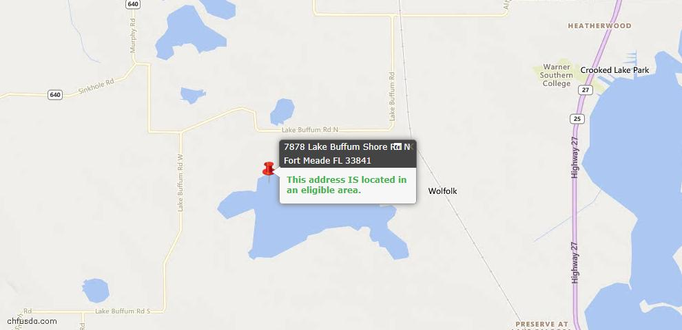 USDA Loan Eligiblity Maps From - Fort Meade, FL