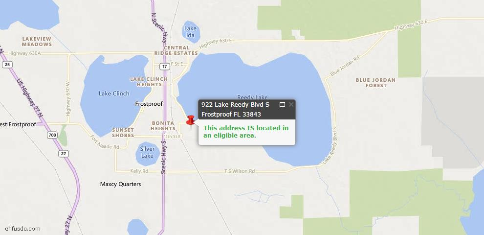 USDA Loan Eligiblity Maps From - 33843, FL