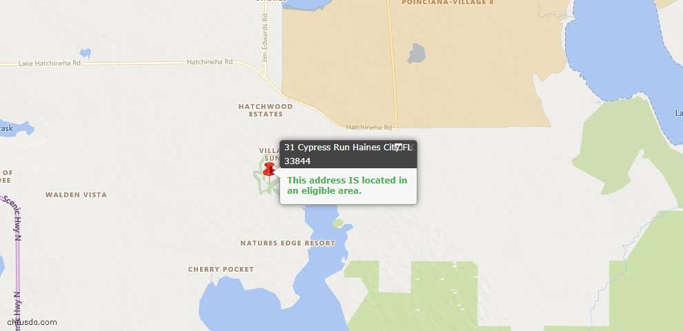 USDA Loan Eligiblity Maps From - 33844, FL