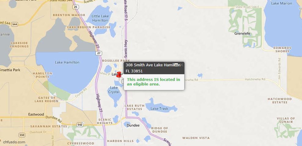 USDA Loan Eligiblity Maps From - Lake Hamilton, FL