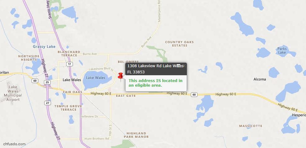 USDA Loan Eligiblity Maps From - Polk County, FL