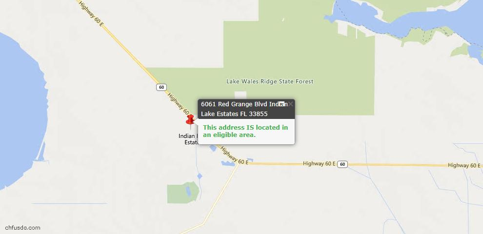 USDA Loan Eligiblity Maps From - Indian Lake Estates, FL