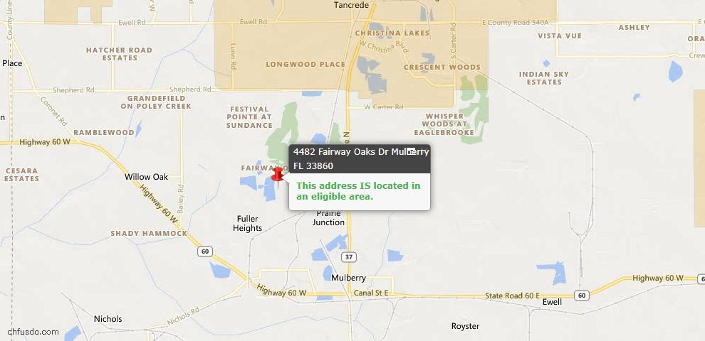 USDA Loan Eligiblity Maps From - Mulberry, FL